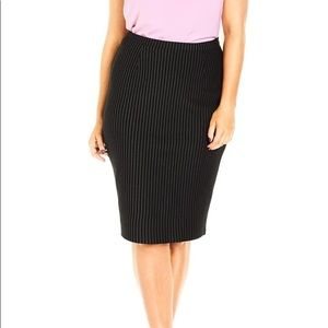 Lane Bryant Pinstripe Pencil Skirt  - Plus Size